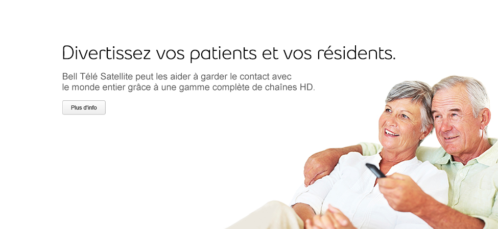 Divertissement HD pour vos patients et résidents